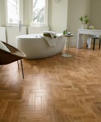 Karndean flooring in stylish bathroom