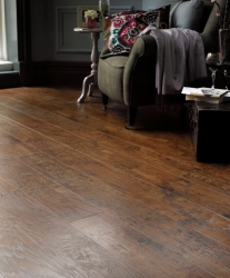 Stylish living room making great use of Karndean flooring