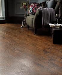 Stylish living room making great use of Karndean flooring