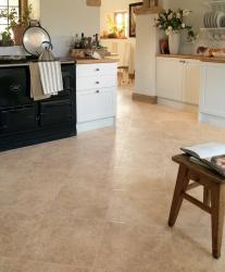 Glossy Karndean flooring in bright kitchen