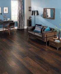 Dark, modern Karndean flooring in luxury living space